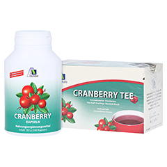 CRANBERRY KAPSELN 400 mg + gratis Cranberry Tee 240 Stück
