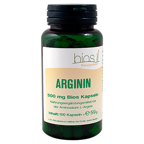 ARGININ 500 mg Bios Kapseln 100 Stück