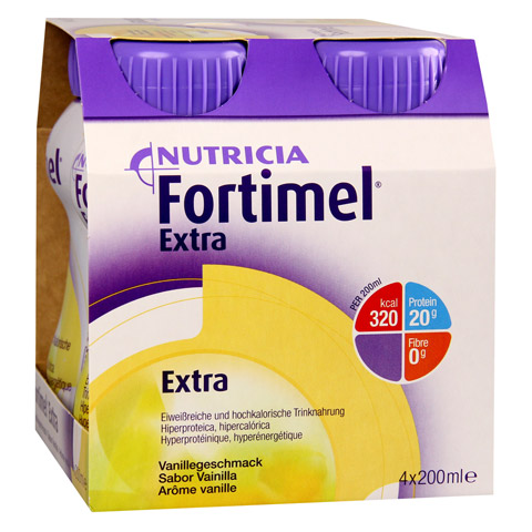 FORTIMEL Extra Vanillegeschmack 8x4x200 Milliliter