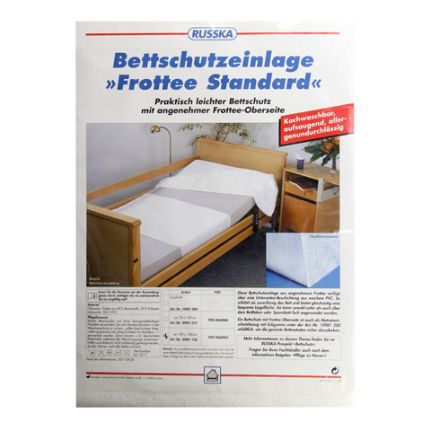 BETTSCHUTZEINLAGE Frottee Standard 100x150 cm 1 Stück