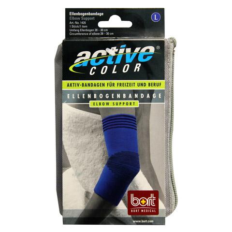 BORT ActiveColor Ellenbogenbandage L blau 1 Stück
