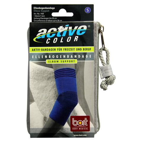 BORT ActiveColor Ellenbogenbandage S blau 1 Stück