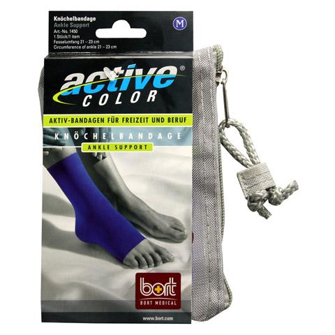BORT ActiveColor Knöchelbandage M blau 1 Stück