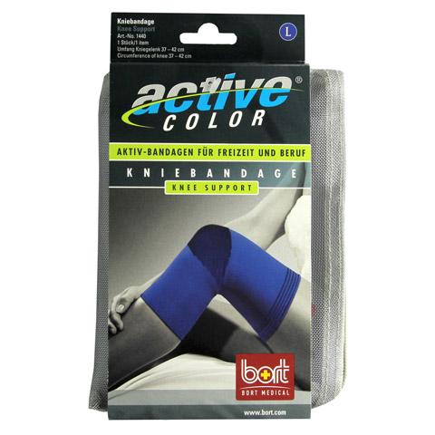 BORT ActiveColor Kniebandage L blau 1 Stück