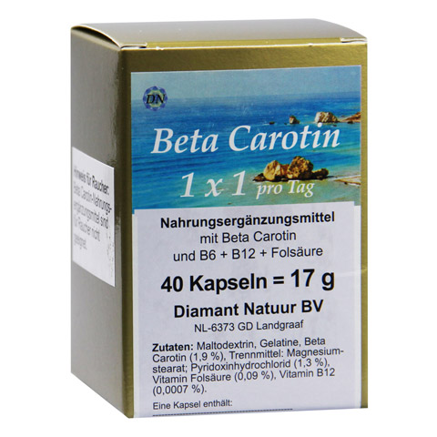 BETA CAROTIN 1x1 pro Tag Kapseln 40 Stück