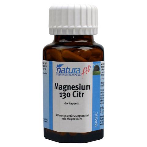 NATURAFIT Magnesium 130 Citr Kapseln 60 Stück