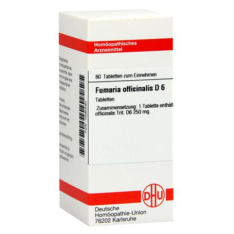 FUMARIA OFFICINALIS D 6 Tabletten 80 Stück N1