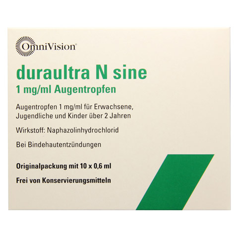 Duraultra N sine 1mg/ml Augentropfen 10x0.6 Milliliter