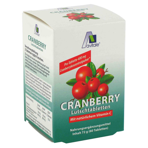 Cranberry Lutschtabletten 60 Stück