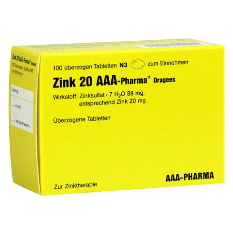 Zink 20 AAA-Pharma 100 Stück N3