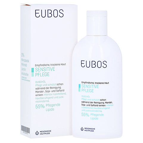 EUBOS SENSITIVE Dusch Öl F 200 Milliliter