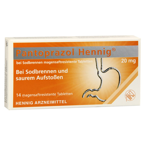 Pantoprazol Hennig bei Sodbrennen 20mg 14 Stück