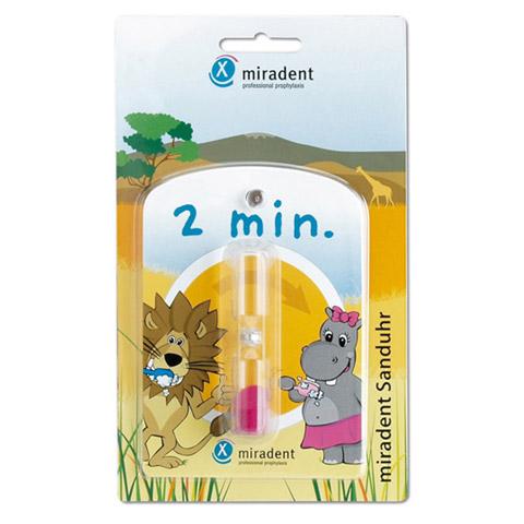 MIRADENT Kinder-Zahnputzuhr Sanduhr 1 Stück