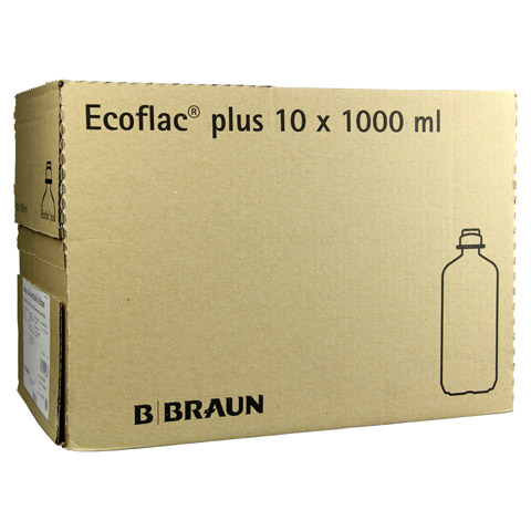 AQUA AD injectabilia Ecoflac Plus Infusionslsg. 10x1000 Milliliter N2