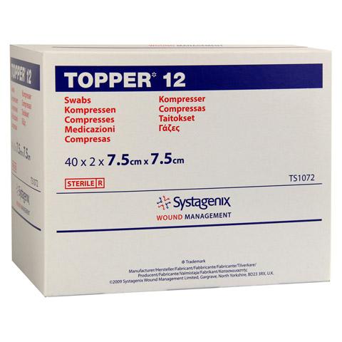 TOPPER 12 Kompr.7,5x7,5 cm steril 40x2 Stück