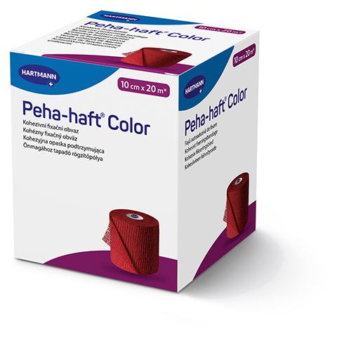 PEHA-HAFT Color Fixierbinde latexf.10 cmx20 m rot 1 Stück