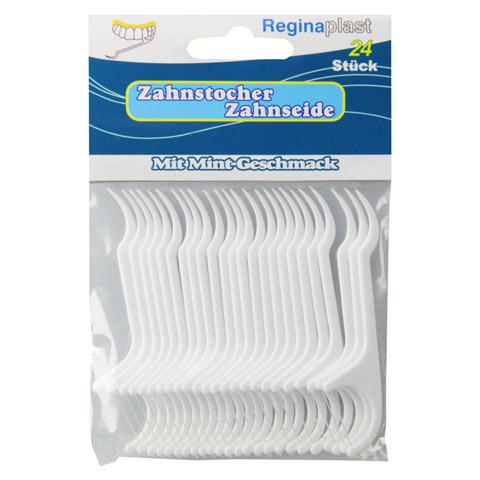 ZAHNSTOCHER mit Zahnseide Reginaplast 24 Stück