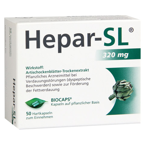 HEPAR-SL 320 mg Hartkapseln 50 Stück