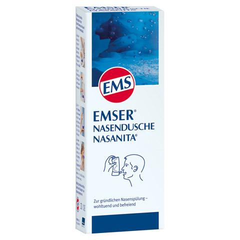 EMSER Nasendusche Nasanita m.4 Btl.Nasenspülsalz 1 Stück
