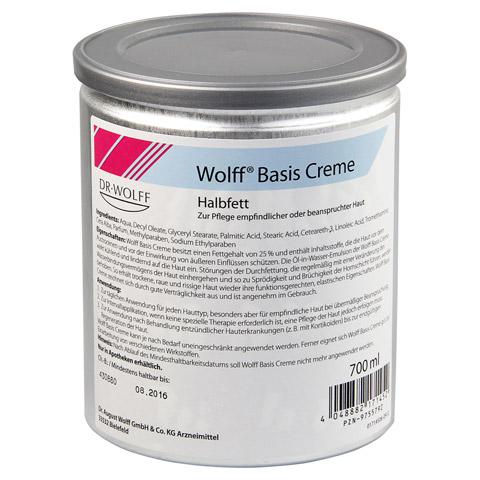 WOLFF Basiscreme halbfett 700 Milliliter