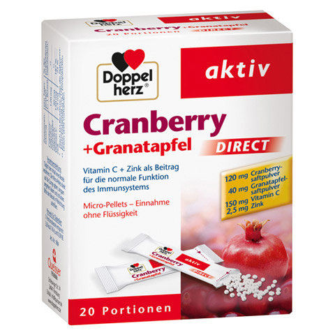 erfahrungen zu doppelherz cranberry granatapfel direct pellets 20 st ck medpex versandapotheke. Black Bedroom Furniture Sets. Home Design Ideas
