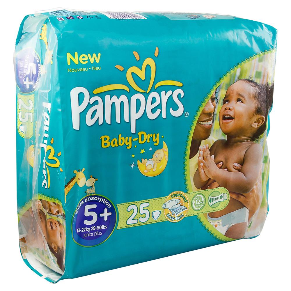 pampers baby dry gr 5 junior plus 13 27kg sparp 25 st ck. Black Bedroom Furniture Sets. Home Design Ideas