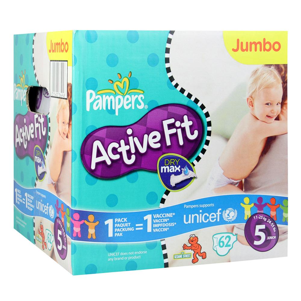 pampers active fit gr 5 junior 11 25kg 62 st ck online. Black Bedroom Furniture Sets. Home Design Ideas