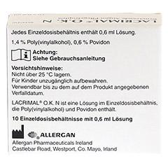LACRIMAL O.K. N Augentropfen 10x0.6 Milliliter - Rückseite
