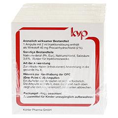 LOPHAKOMP Procain 2 ml Injektionslösung 50x2 Milliliter N3 - Rückseite