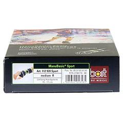 BORT ManuBasic Sport Bandage re.medium schw/grün 1 Stück - Unterseite