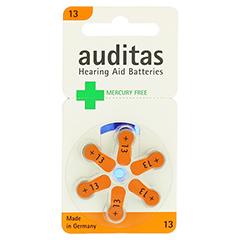 AUDITAS Hörgerätebatterie 13 Quecksilber frei 6 Stück