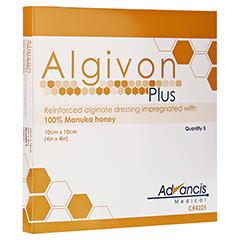 ALGIVON Plus Honigalginat Wundauflage 10x10 cm 5 Stück