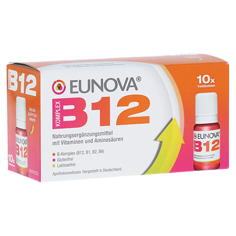 EUNOVA B12 Komplex Trinkfläschchen 10x10 Milliliter