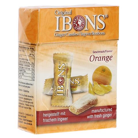 IBONS Orange Ingwerkaubonbons Orig.Schachtel 60 Gramm
