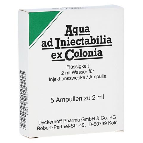 AQUA AD iniectabilia ex Colonia Ampullen 5x2 Milliliter