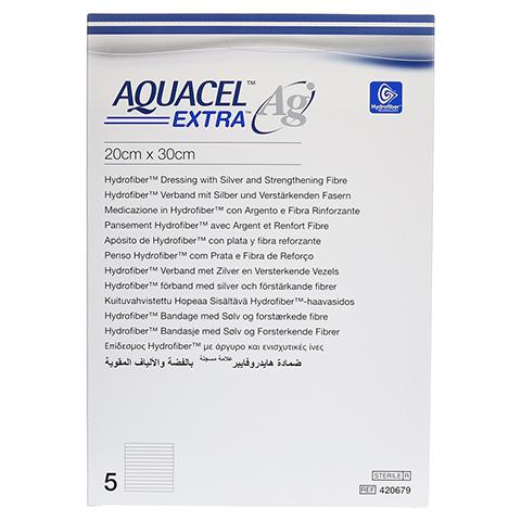 AQUACEL Ag Extra 20x30 cm Kompressen 5 Stück