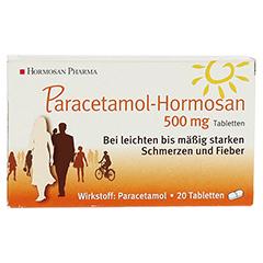 Paracetamol-Hormosan 500mg 20 Stück N2 - Vorderseite