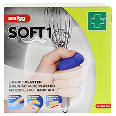 SNOEGG Soft Pflaster 6 cmx5 m blau 1 Stück - Vorderseite