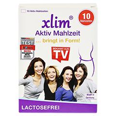 XLIM Aktiv Mahlzeit lactosefrei Pulver 10x20 Gramm - Vorderseite