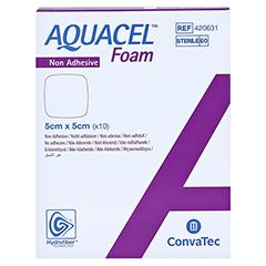 AQUACEL Foam nicht adhäsiv 5x5 cm Verband 10 Stück - Vorderseite