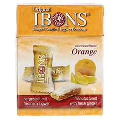 IBONS Orange Ingwerkaubonbons Orig.Schachtel 60 Gramm - Vorderseite