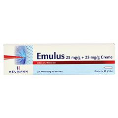 EMULUS 25 mg/g + 25 mg/g Creme 30 Gramm N3 - Vorderseite