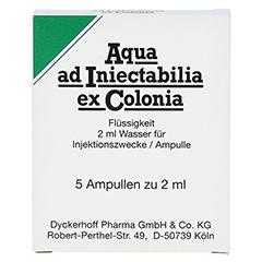 AQUA AD iniectabilia ex Colonia Ampullen 5x2 Milliliter - Vorderseite