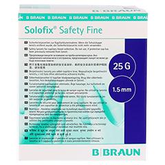 SOLOFIX Safety Fine Lanzetten 25 Gx1,5 mm 200 Stück - Vorderseite