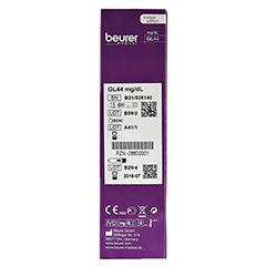 BEURER GL44 Blutzuckermessgerät mg/dl lila 1 Stück - Linke Seite