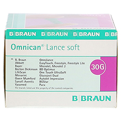OMNICAN Lance soft 30 G E Lanzetten 200 Stück - Rechte Seite
