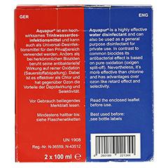 AQUAPUR Desinfektionsmit.m.Chlordioxid Na.Chlorit 1 Stück - Rückseite