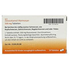 Paracetamol-Hormosan 500mg 20 Stück N2 - Rückseite