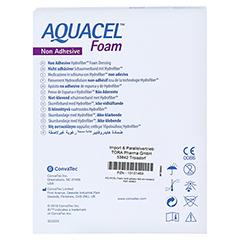 AQUACEL Foam nicht adhäsiv 5x5 cm Verband 10 Stück - Rückseite