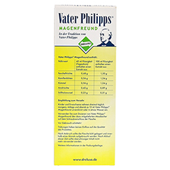 VATER PHILIPPS Magenfreund Liquidum 500 Milliliter - Rückseite